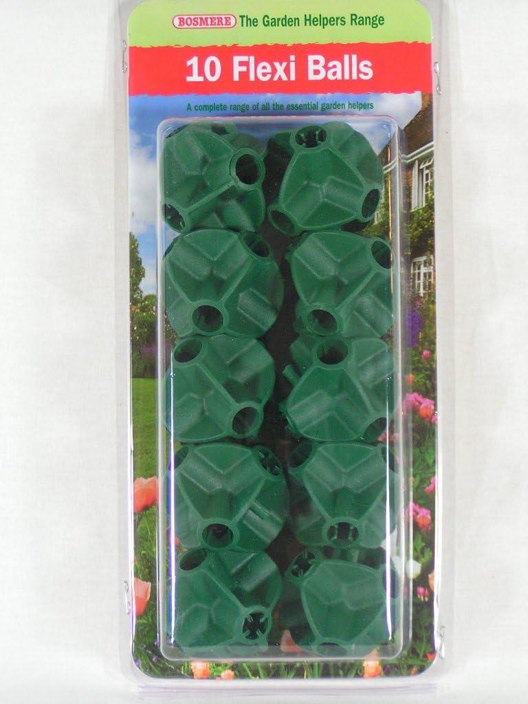 Bosmere flexiballs Flexi Balles Canne Connecteurs Jardin Helpers Gamme 10pc