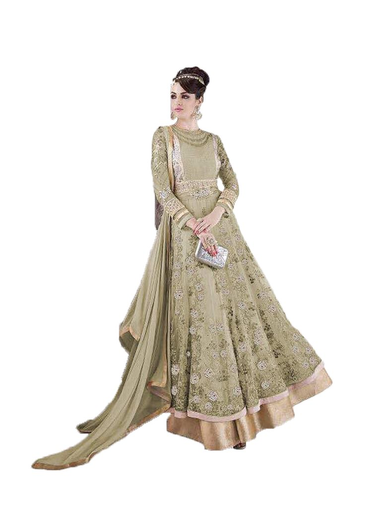 Readymade New Designer Bollywood Indian/Pakistani Anarkali Suit VF (Medium, Light Green-2)