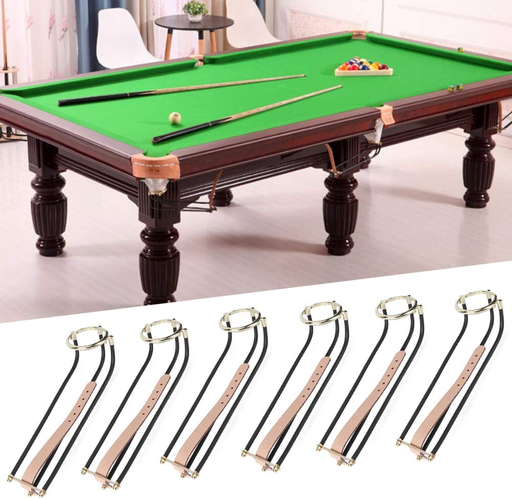 Alomejor 6Pcs Biliardo Palla Caduta Rail Stile Americano Pool Pocket Snooker Pool