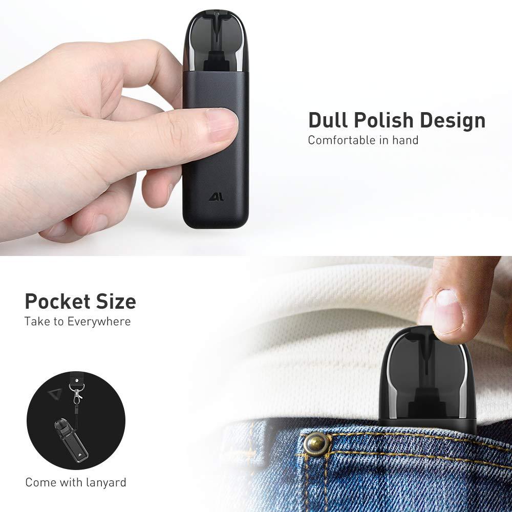 IJOY AI Vape Pod Cigarrillos Electronicos Kit de inicio con Vape Liquid Atomizador recargable 450 mAh Batería recargable Todo en uno Portátil Vape Pen ...