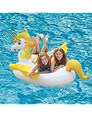 Leeron Juguete Hinchable para Piscina, Flotador de Unicornio Colchonetas Flotante para Playa, Anillo de la Natación, Silla de la Recreación del Agua para los Niños o Adultos