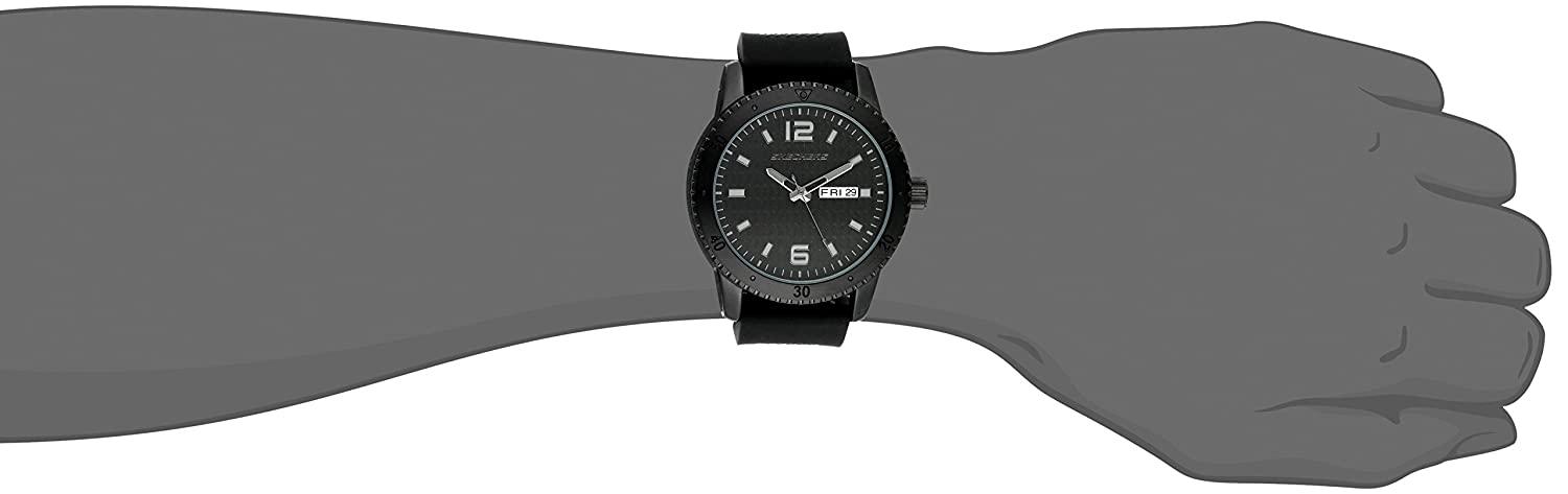 Amazon.com: Skechers Mens Redondo Quartz Metal and Silicone Casual Watch Color: Black (Model: SR5000): Watches