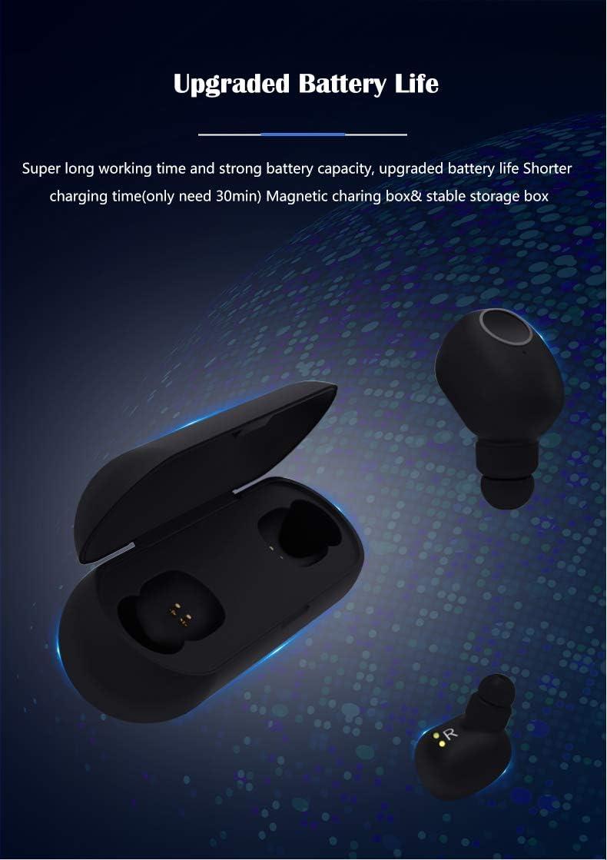 Hongyu2019 Auriculares Inalambricos Pequeños Control Tactil, Auriculares Bluetooth 5.0 Mini Twins In-Ear on Caja de Carga Auriculares Inalambricos (Negro): Amazon.es: Electrónica