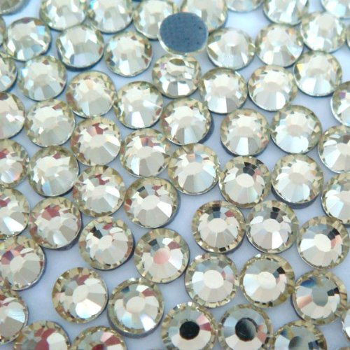 Pink Ribbon Double Crystals - NEW ThreadNanny CZECH Quality 2gross (288 pcs) HotFix Rhinestones Crystals - 6mm/30ss, Crystal / Clear Color