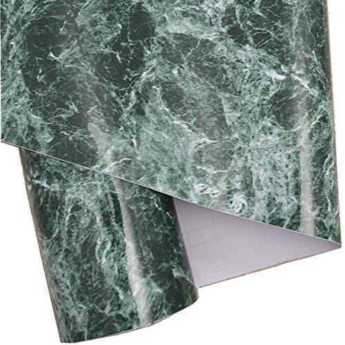 Review Green Granite Look Marble Gloss Film Vinyl Self Adhesive Counter By Moyishi by Moyishi