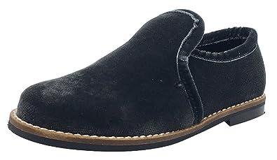 60df84e54fc Luccini Kid s Slip-On Loafer (Dark Grey Velvet