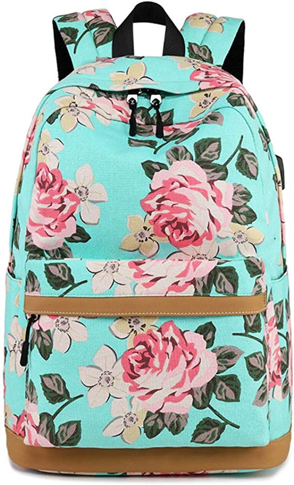 School Backpack for Boys Girls Youth with USB Charging Port