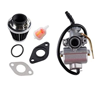 Podoy PZ20 Carburetor for Chinese ATV 125cc 50cc 70cc 90cc 100cc 110cc  Taotao Go karts Moped Scooter with 35mm Air Filter Fuel Filter