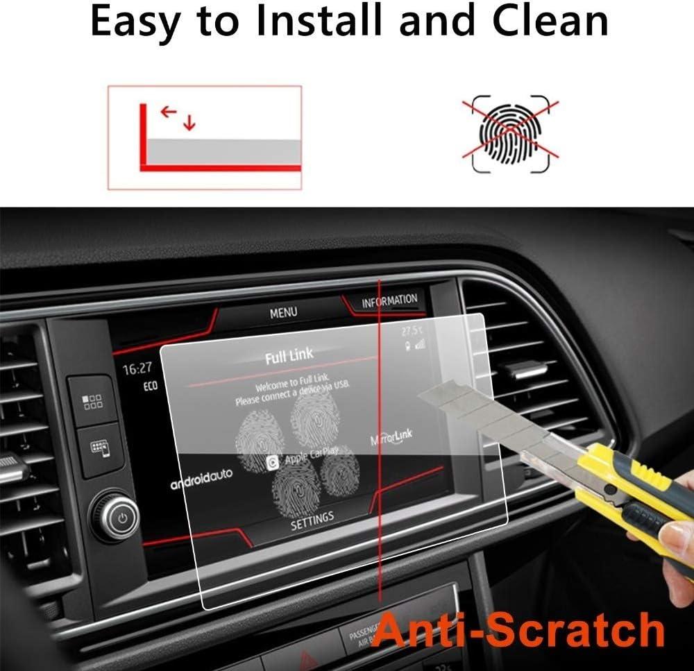 NO LOGO FJY-Visor /Écran Voiture Protecteur for Seat Leon X-perience 8inch Voiture de Navigation GPS /à /écran Tactile en Verre tremp/é Film Protecteur d/écran Couleur : 8inch