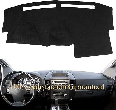 Hex Autoparts Dash Cover Mat Dashboard Pad Black for Nissan Titan 2004-2012