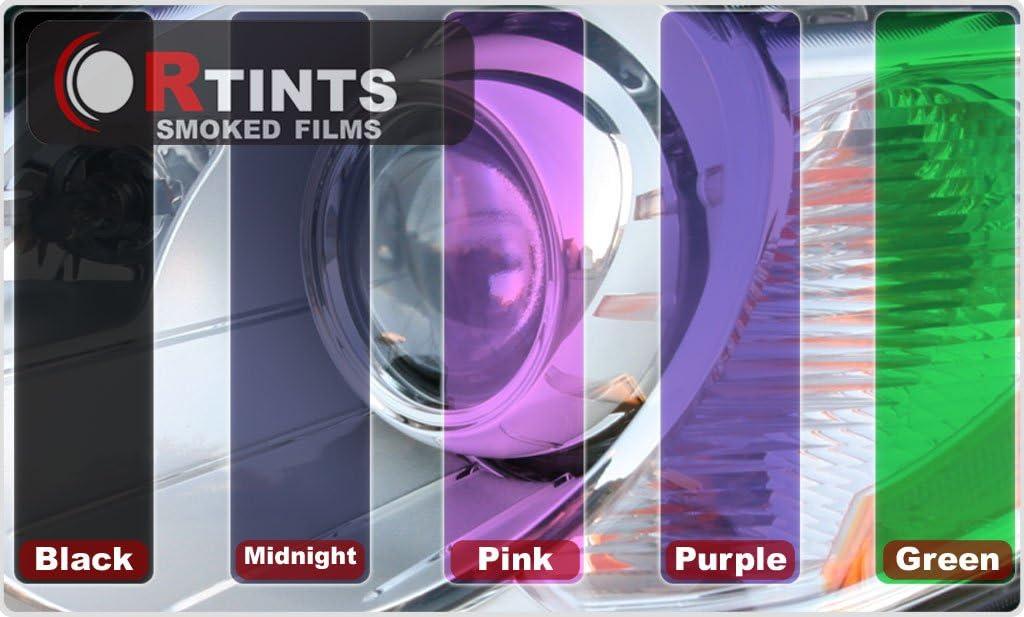 Rtint Fog Light Tint Covers for Infiniti Q50 2014-2018 Matte Smoke