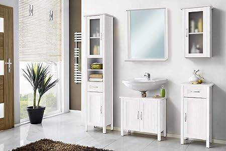 Muebles de baño de Galdem, juego con espejo, armario bajo ...