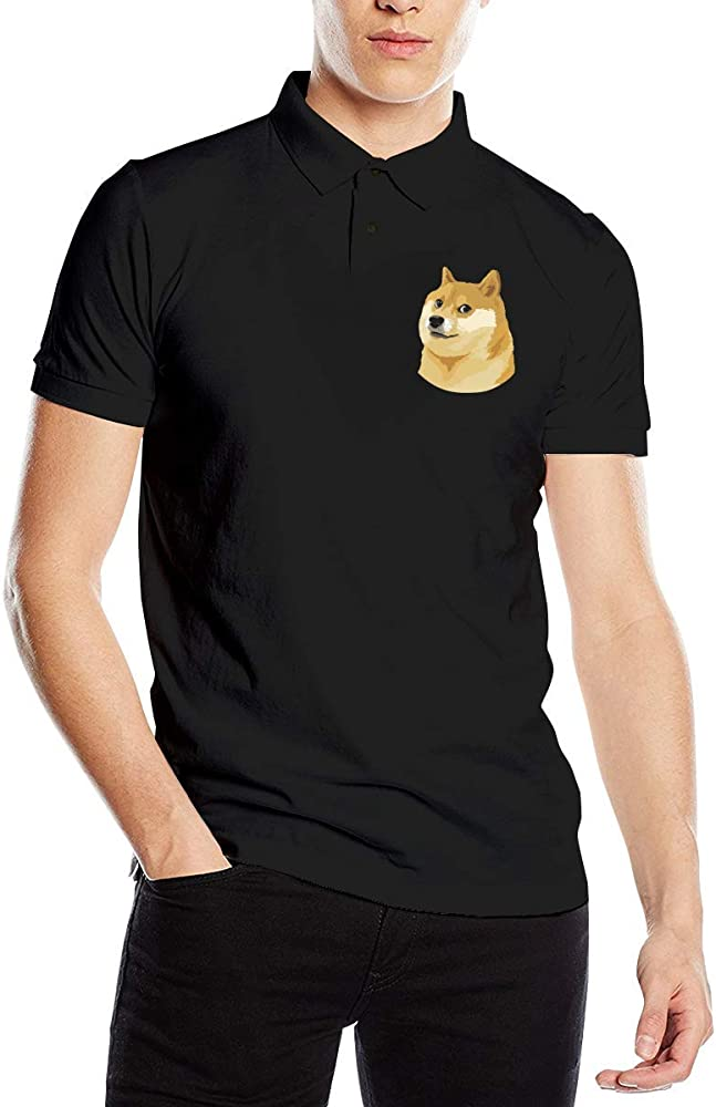 Polo de manga corta para hombre con cara de Doge Meme Fit Negro Negro (S: Amazon.es: Ropa y accesorios