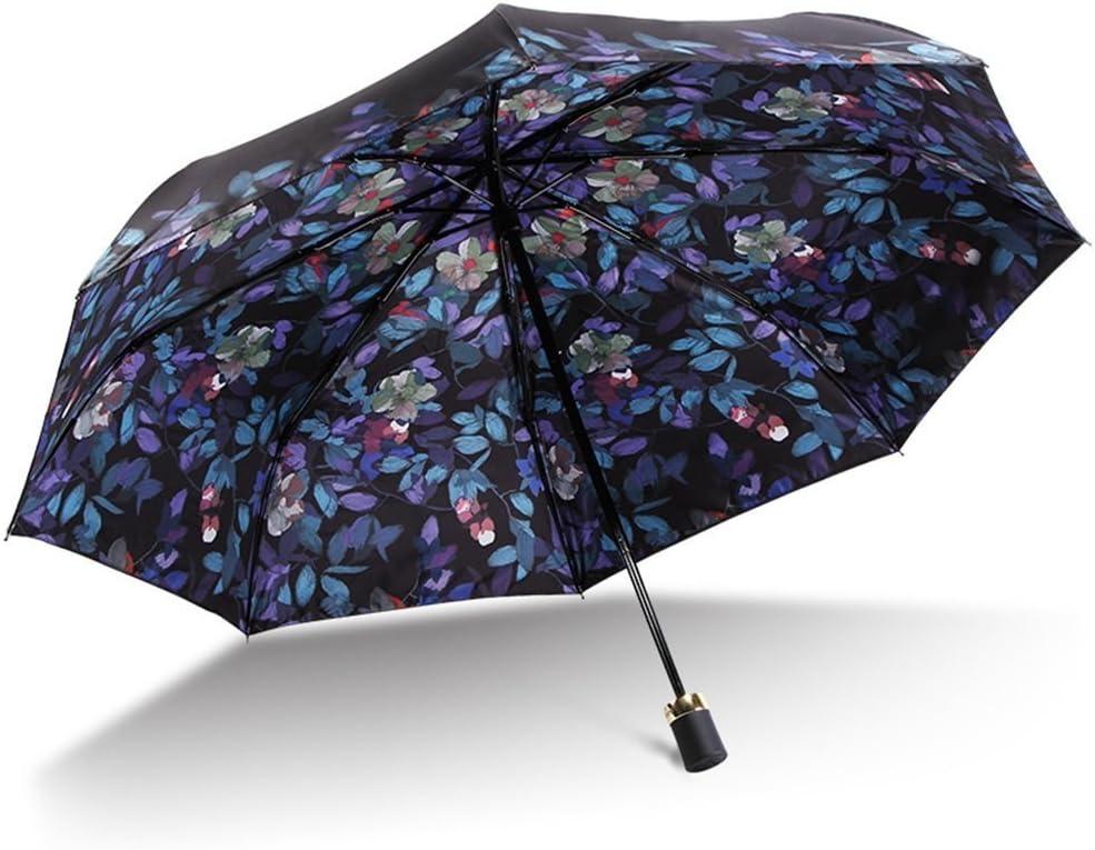 HOMEE Double vinyl umbrella uv protection umbrella foldable rain and rain umbrella