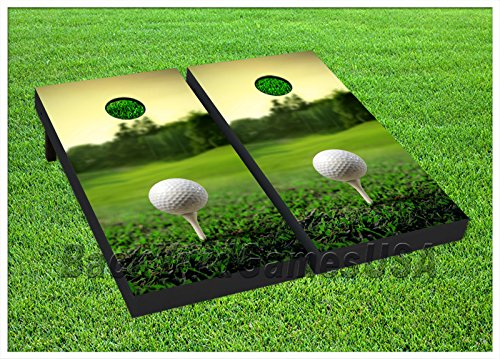 (VINYL WRAPS Cornhole Boards DECALS Golf Field Green Bag Toss Game Stickers 268)