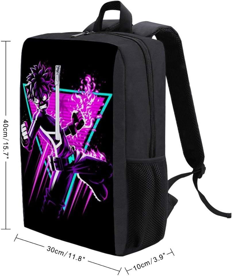 My Hero Acaedmia Retro Deku Backpack Daypack Rucksack Laptop Shoulder Bag with USB Charging Port