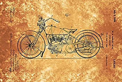 Amazon.com: Wall Art Print entitled US1675551-0 Harley Davidson ...