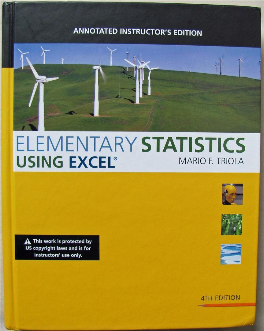 Download Elementary Statistics Using Excel, Annotated Instructor's Edition pdf epub