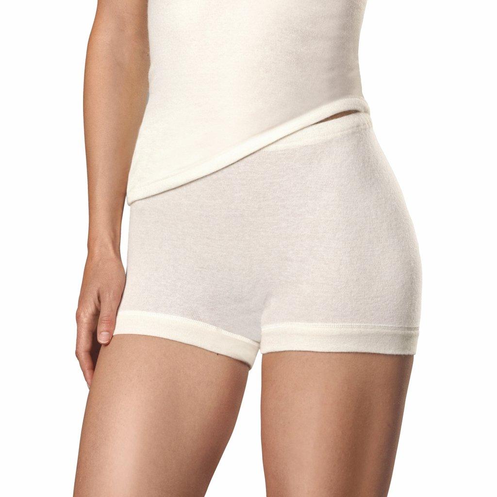 Con-ta Damen Angora - Schurwolle - Pagen-Schlüpfer - warme Funktions-Unterwäsche nicht nur für den Winter Größe 38 - 52 Woll-Weiß - 805-0650