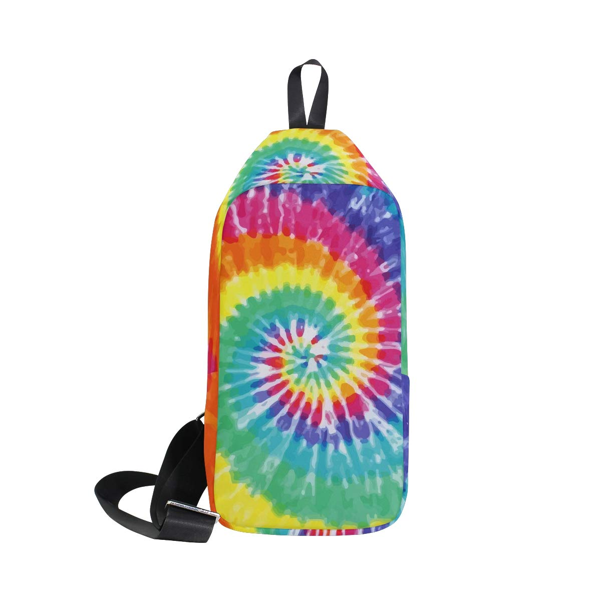 TFONE Abstract Tie Dye Design Crossbody Bag Lightweight Chest Shoulder Messenger Pack Backpack Sling Bag