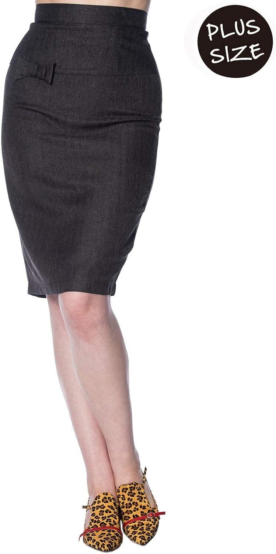 Banned Secretary Plus Size Pencil Skirt - UK-22 at Amazon ...