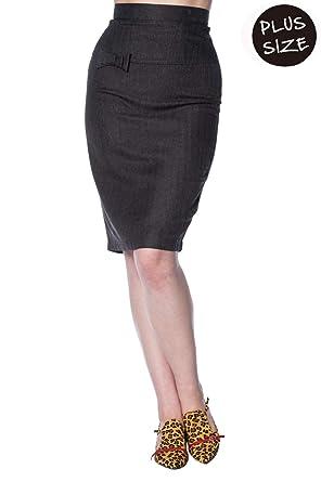 4fed728cb3604 Banned Secretary Plus Size Pencil Skirt  Amazon.co.uk  Clothing