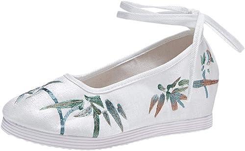 Liveinu Donna Mary Jane Ballerina con Laccio Cuneo Fiori Ricamate a Mano Ricamate Cinese Ricamo Scarpe Loafers Comode Slip On Scarpe Casual Flat Shoes