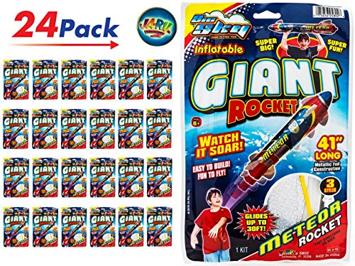 Giant Rocket Glider 41 Inches Long (Pack of 24 Units) with a Collectable Bouncy Ball by JA-RU| Item #5802-24p -