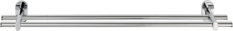 Zinkdruckguss Duo 58.5 x 7 x 11.5 cm Befestigen ohne bohren Handtuchstange Chrom WENKO 22289100 Power-Loc Badetuchstange Duo Puerto Rico