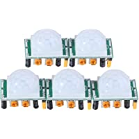 Themisto Hc-sr501 Adjust Ir Pyroelectric Infrared Pir Motion Sensor Detector Modules, Multi-color, Set of 5