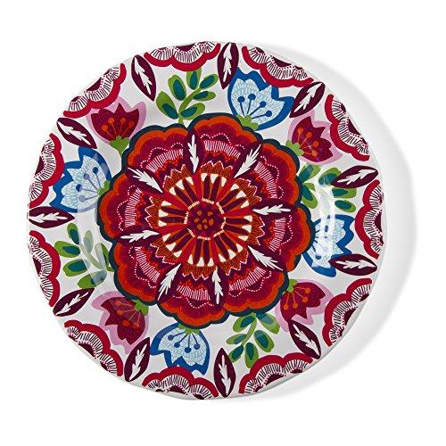 Tag Talavera Melamine Dessert/Salad Plates, Set of 4