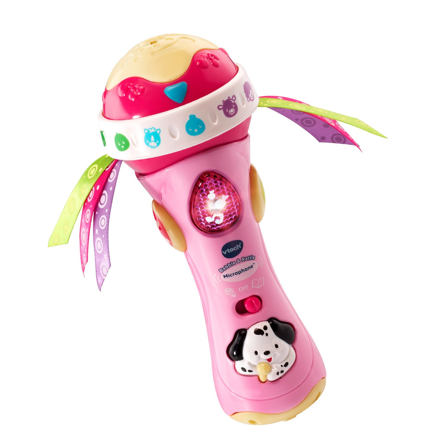 VTech Baby Babble and Rattle Microphone - Pink - Online Exclusive