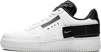 Correctamente Coordinar Giro de vuelta  Amazon.com: Nike Air Force 1 Type Blanco/Negro AT7859-101 para hombre: Shoes