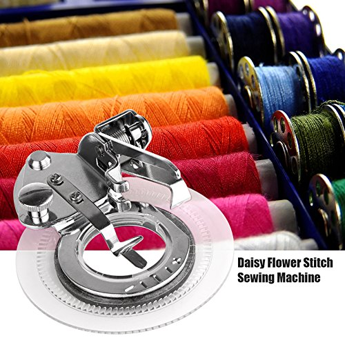 ONEVER Daisy Flower Stitch Sewing system Presser ft . for All Low Shank Singer Janome Brother Sewing system Presser Feet