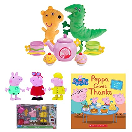 Amazon.com: Princesa Peppa Pig Tea Time, Talking Dress Up ...