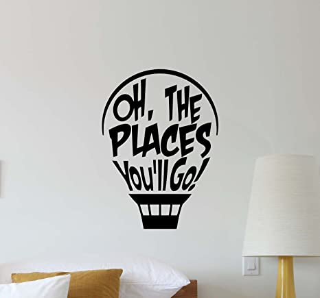 Amazoncom Dr Seuss Hot Air Balloon Wall Decal Oh The Places Youll