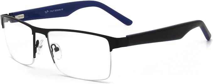 Men Glasses Frame Fashion Grey Rectangle Full Frame Decoration Prescription Glasses