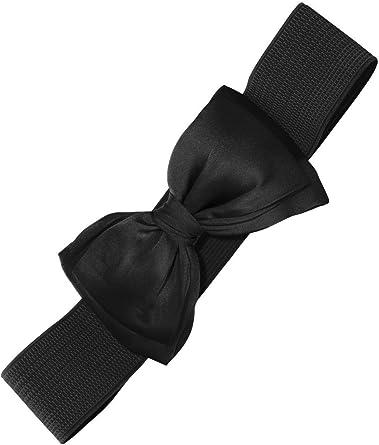 Banned 1950s Elasticated Bow Rockabilly Belt