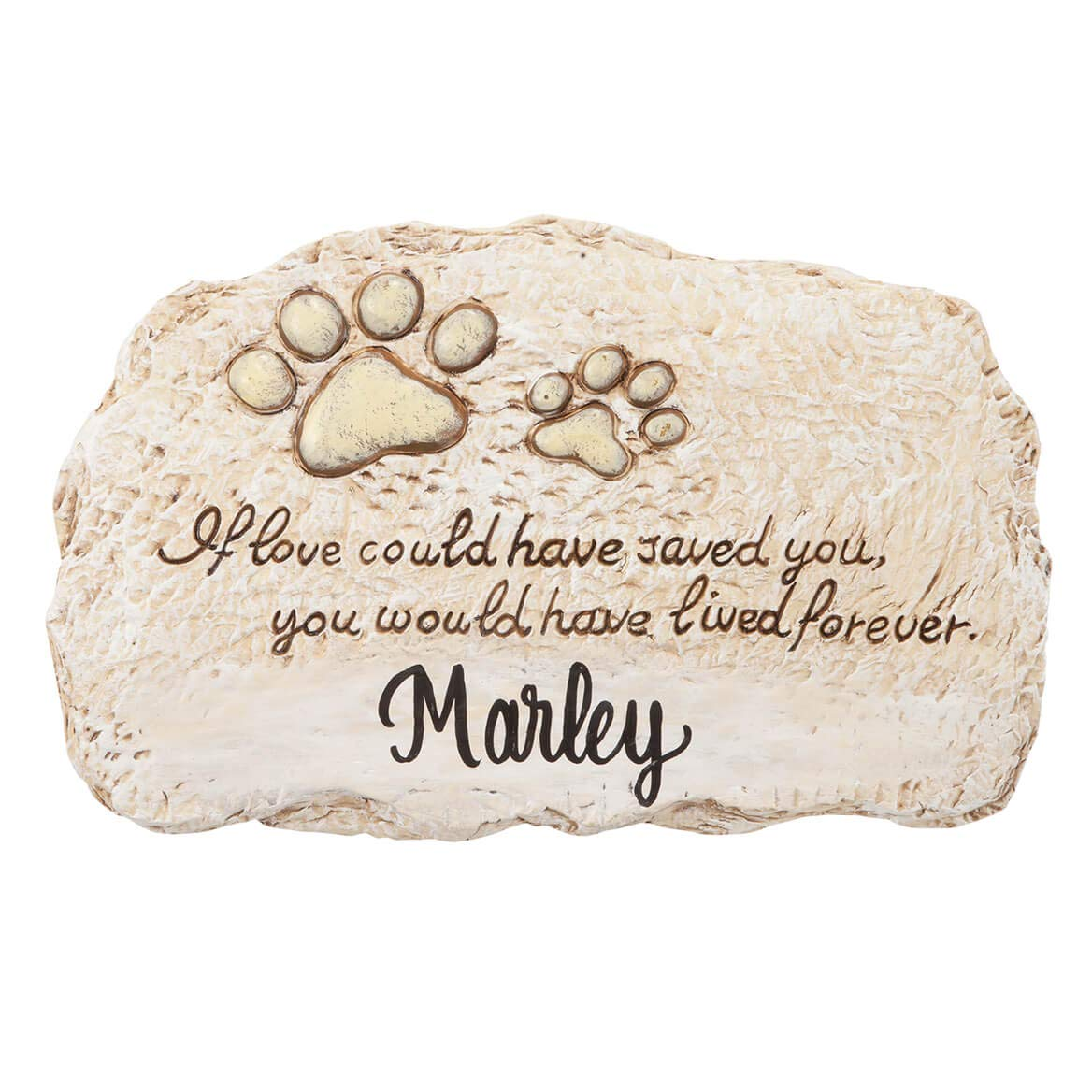 Fox Valley Traders Personalized Forever Pet Memorial, Customized Indoor/Outdoor Resin Garden Stone, Loss of Pet Sympathy Gift