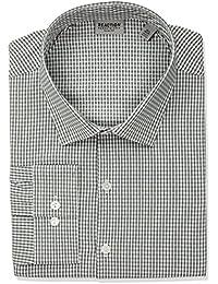 Men's Technicole Slim Fit Stretch Check Spread Collar Dress Shirt