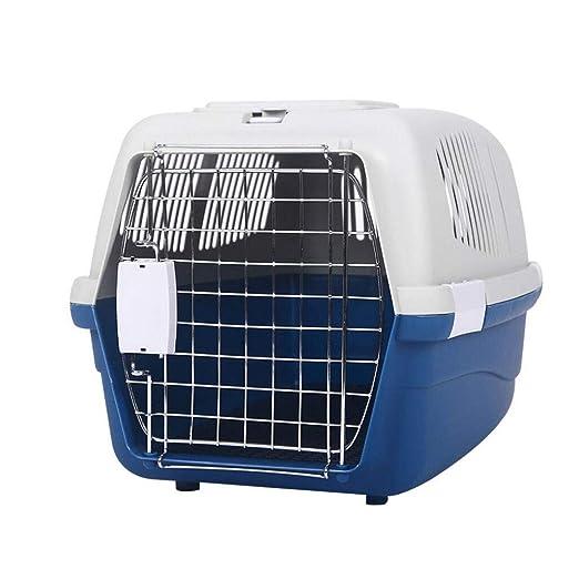 Caja de plástico para Mascotas Jaula Gato y Perro Coche de Viaje ...