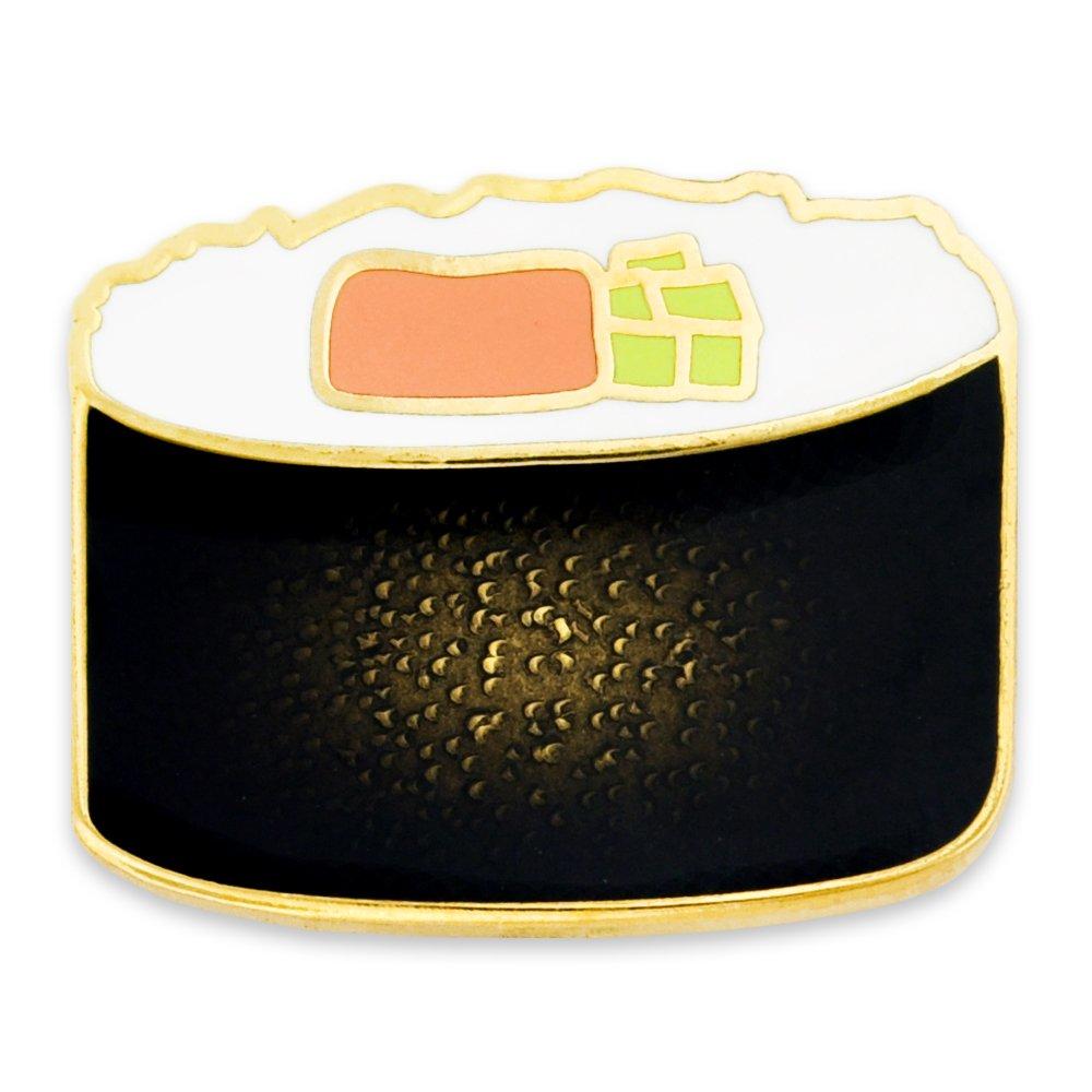 PinMart's Sushi Roll Top View Enamel Lapel Pin 3/4''W x 5/16''H