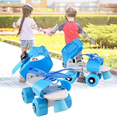 Kid's Roller Skates, Youth Quad Adjustable Roller Skates for Girl Boy, Adjustable Skates Length, Suitable for People of All Ages : Sports & Outdoors