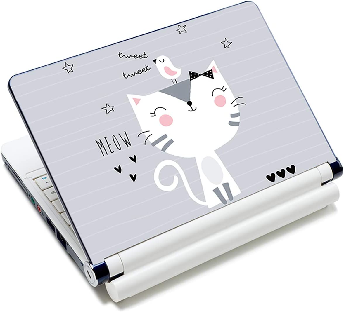 "Baocool Laptop Skin Sticker Decal,12"" 13"" 13.3"" 14"" 15"" 15.4"" 15.6 inch Laptop Skin Sticker Cover Art Decal Protector Notebook PC (Cute Cat)"