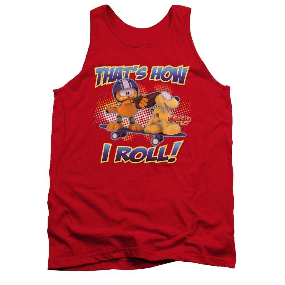 Garfield How I Roll Adult Tank Top T-shirt