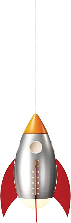 Philips 40204 55 48 Kidsplace Rocketship Pendant Light Multi Colored Ceiling Pendant Fixtures Amazon Com