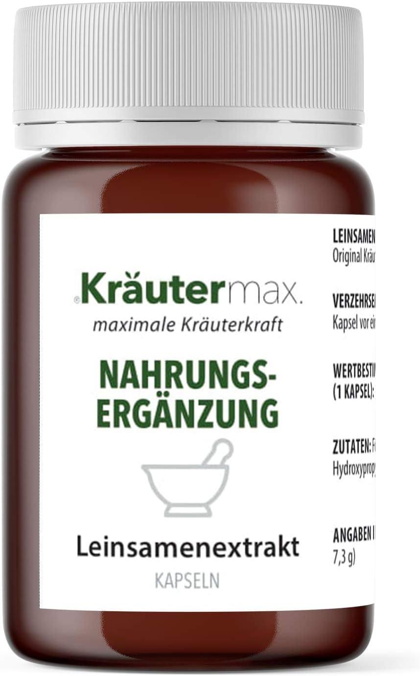 Cápsulas de linaza Extracto en polvo vegano Extracto de linaza sin gluten 1 x 90 piezas