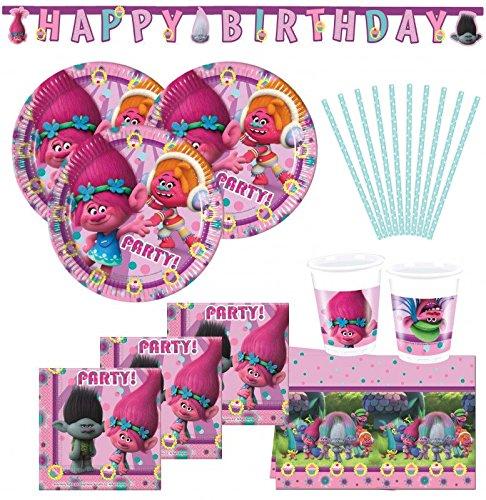 KPW 74 Piezas Trolls Party Set para 16 niños: Amazon.es ...