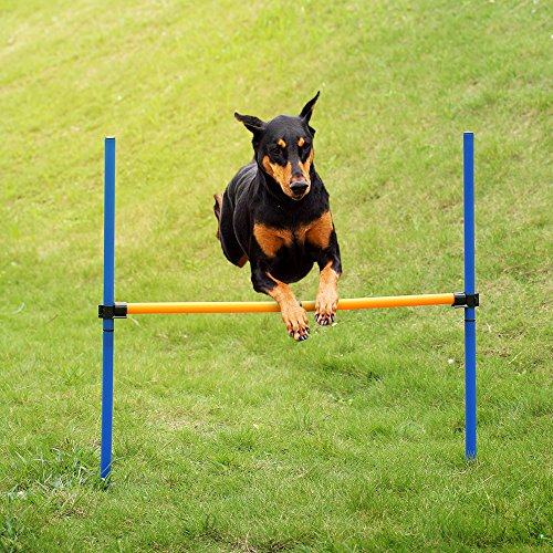 Galapara Outdoor Pet Dogs Games Agility Exercise Training Equipment Jump Hurdle bar Obedience Show Training for Doggie Activity Agility Exercise Pole Set with Carrying Case
