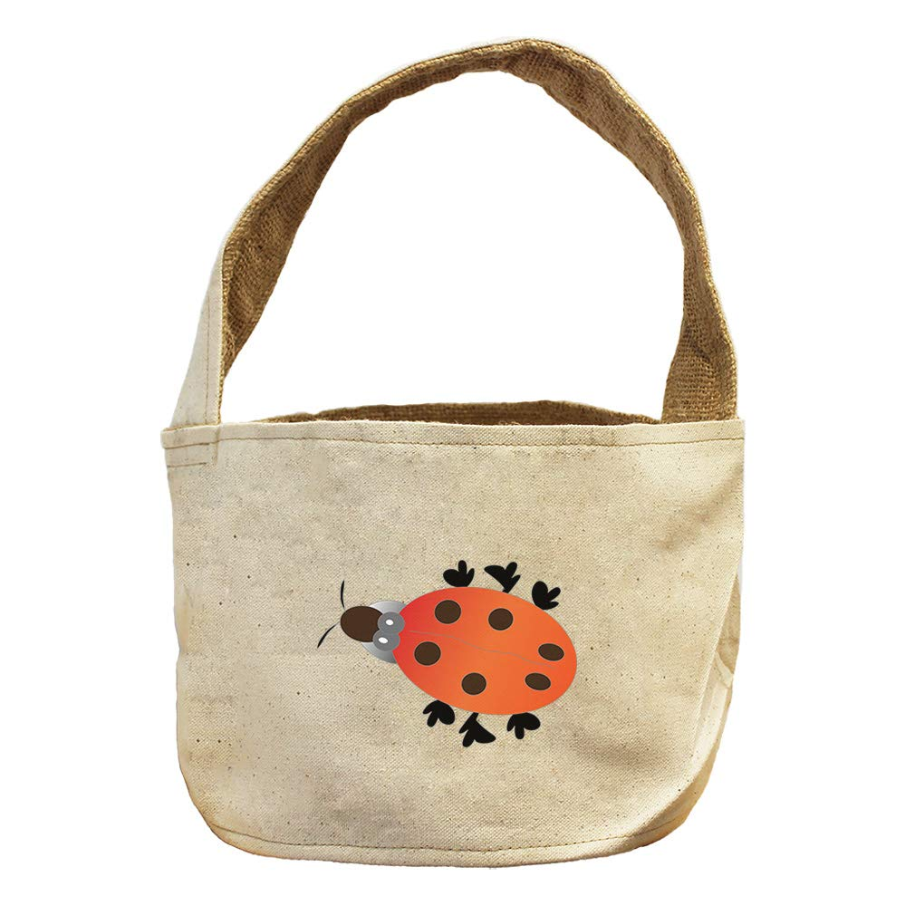 Style in Print Ladybug Animals Canvas and Burlap Storage Basket